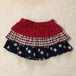 Gymboree America 4th of July skirt 12-18 months